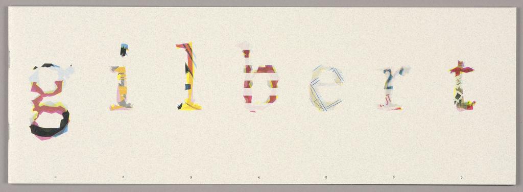 """Booklet, """"Gilbert Paper Exquisite"""
