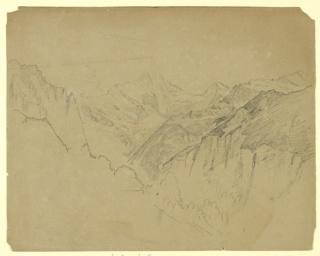 Sketch of a mountain range.