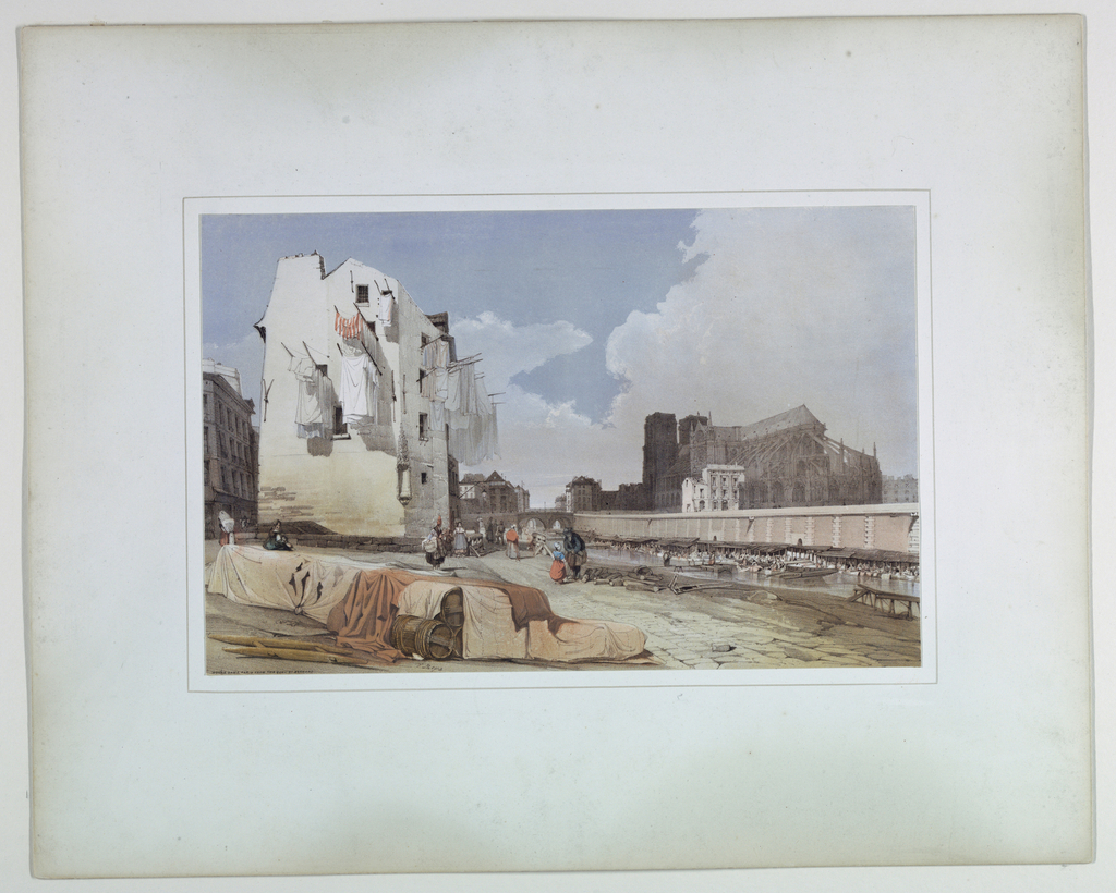 Print, Notre Dame, Paris from the Quai Saint Bernard, 1839