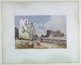Print, Notre Dame, Paris from the Quai Saint Bernard, 1839