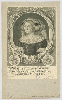 Print, Portrait of Frau Barbara