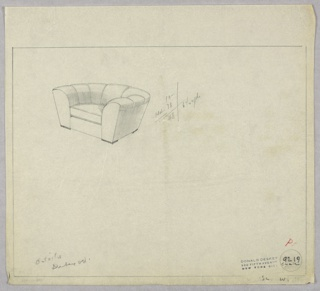 Drawing, Armchair