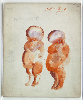 Drawing, Costume Design: No. 135, Two Little Breads, for Blue Bird, 1919