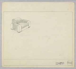 Drawing, Amodec: Armchair