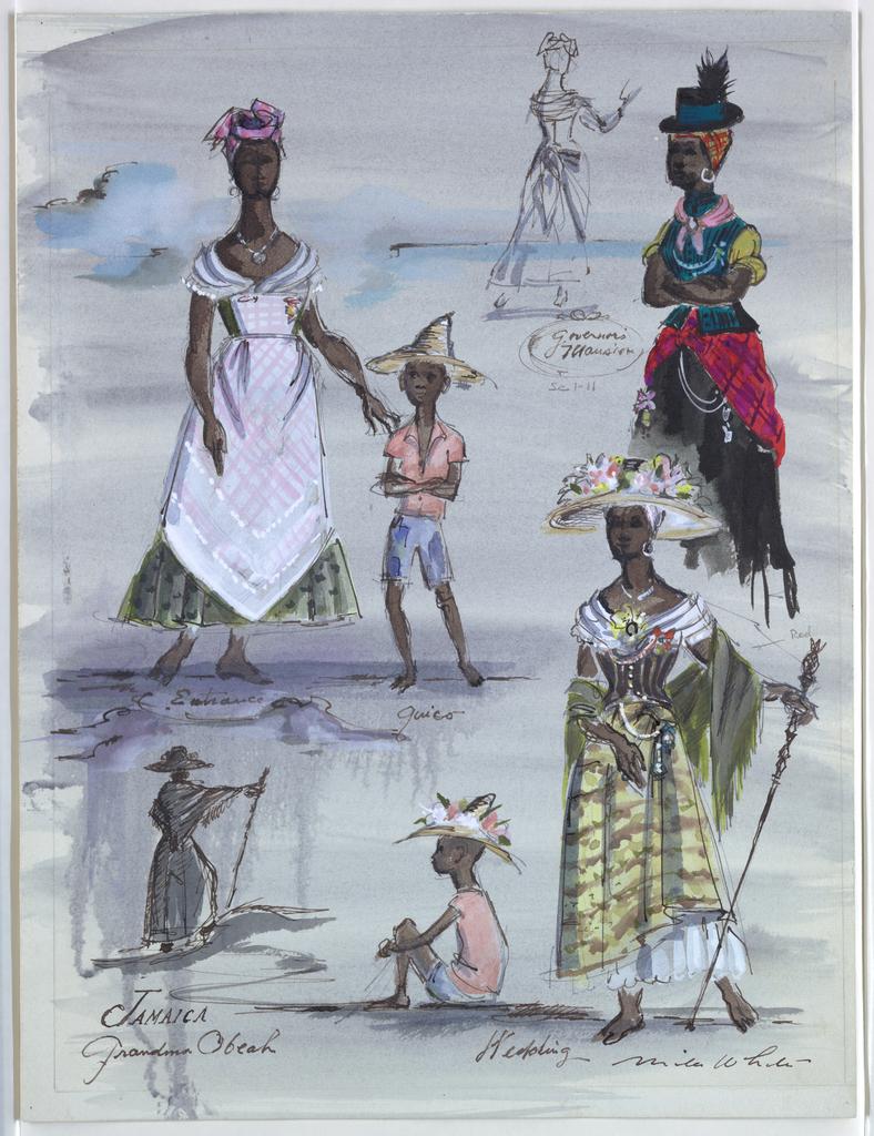 Drawing, Costume Designs: Grandma Obeah, for Jamaica