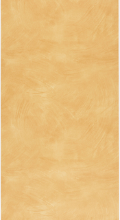Orange faux finish, with the appearance of random wide brush strokes.