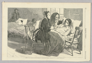 Print, Scene in the Hospital for the Incurables, Illustration for Harper's Weekly (XII, February 19, 1868, p. 136)