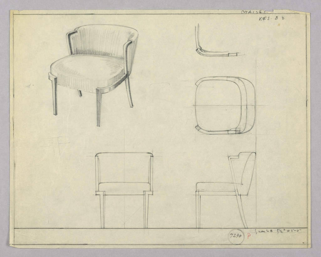 Drawing, Chaise