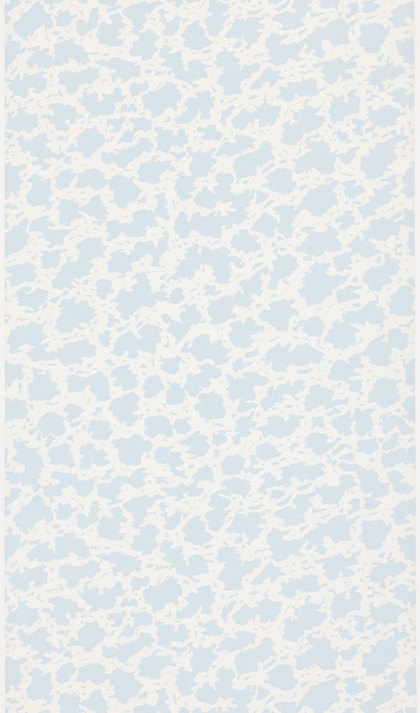 All-over pattern of closely spaced light blue patches on a white ground.