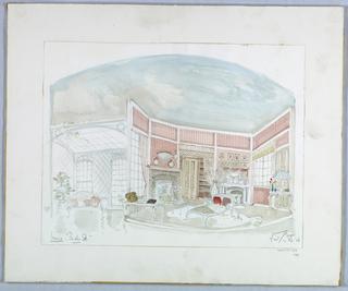 Drawing, Stage Design: Irene's, for Baker Street