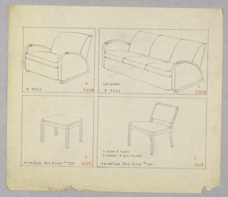 Drawing, Armchair/Sofa/Stool/Sidec