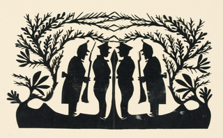 Silhouette, Four Soldiers
