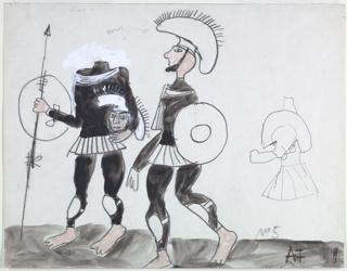 Drawing, Costume Design: Bartley, Scene 1, Lysistrata