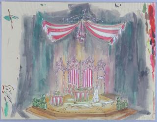 Drawing, Stage Design: Albert Herring