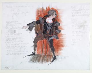 Drawing, Costume Design: Villon, for Le Testament