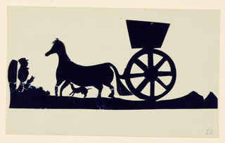 Silhouette, Horse and Carriage