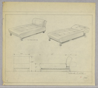 Drawing, Chaise Lounge