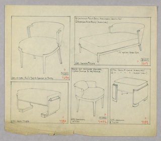 Drawing, Chair/Chaise Lounge/Stool