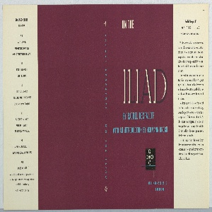 On purple ground, text in white and blue: ON THE / ILIAD / BY RACHEL BESPALOFF / WITH AN INTRODUCTION BY HERMANN BROCH; lower right: BOLLINGER SERIES / PANTHEON. On spine: RACHEL BESPALOFF . ON THE ILIAD.