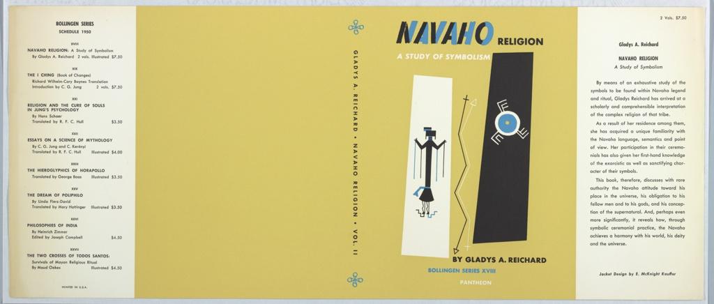 Book Cover, Navaho Religion: A Study of Symbolism by Gladys A. Reichard