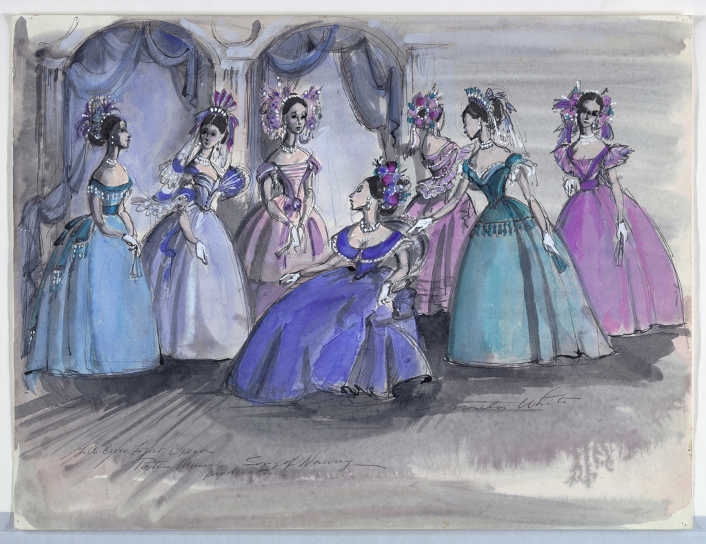 Drawing, Costume Designs: Song of Norway