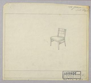 Drawing, Amodec: Sidechair