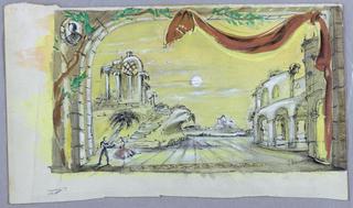 "Drawing, Set design: Finale for ""Schumann Concerto"", 1951"