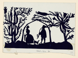 Silhouette, Man, Woman, Dog