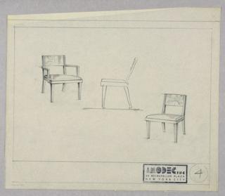 Drawing, Amodec: Armchair,  Sidechair