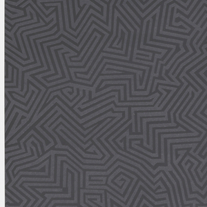 All-over pattern of black maze-like design on black.