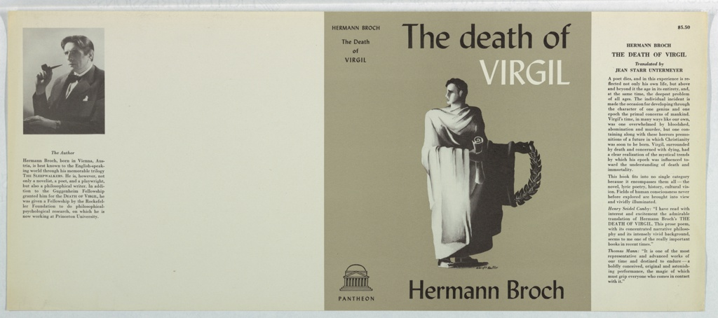 Book Cover, The Death of Virgil by Hermann Broch