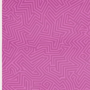 All-over pattern of pink maze-like design on pink.