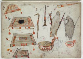 Drawing, Mustical Instruments, for Snow Maiden, 1922