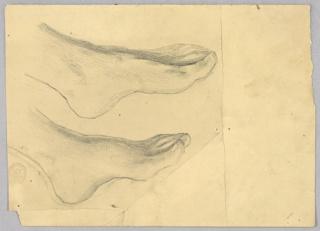 Sketch of a model's feet.