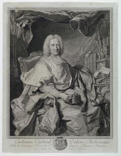 Print, Portrait of Guillaume Cardinal Dubois (1650-1723)