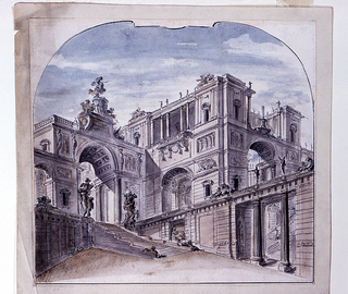 Drawing, Stage Design: Palace Architecture
