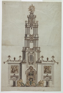 Bell tower, probably built in honor of King Ferdinand IV of Naples (reigned 1759 to 1825).