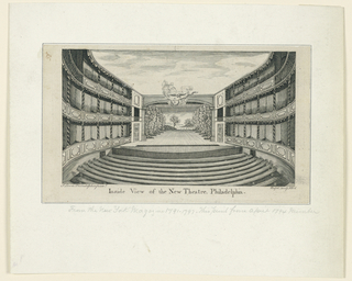 Print, Interior View, New Theater, Philadelphia