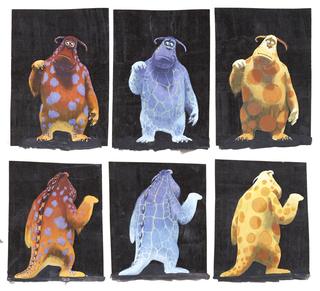 Concept Art, Sullivan Fur Pattern Studies, Monsters, Inc., 2001