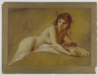 Drawing, Reclining Nude, late 19th century