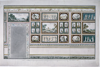 Drawing, Decoration of a Wall as a Picture Gallery