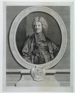 Print, Portrait of Jean Paul Bignon, Abbé of St. Quentin