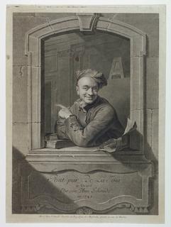 Print, Self-Portrait of Maurice-Quentin de La Tour