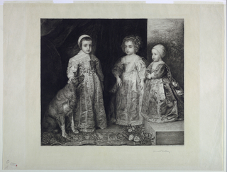 Print, The Children of Charles I of England