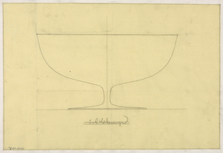 Design for a fruit bowl on a low stem.