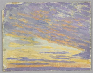 Sketch of a sunset and clouds.