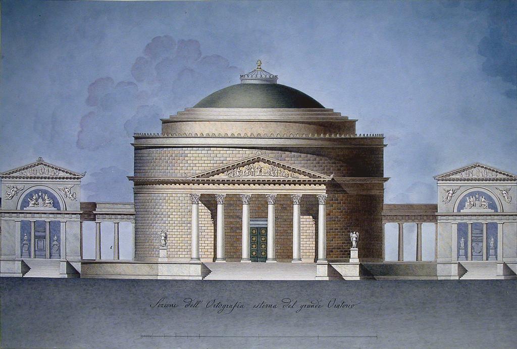 Drawing, Design for an Oratory (Memorial Chapel)