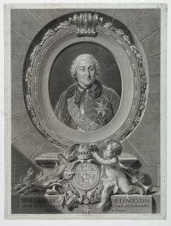 Print, Portrait of Field Marshal Count Waldemar de Loewendal (1700-1755)