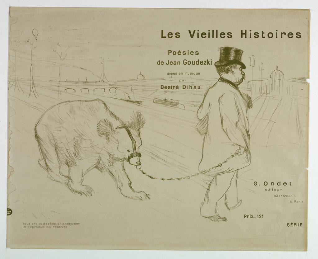 """Print, Title Page, from """"Les Vieilles Histoires, poésies de Jean Goudezki, mises en Musique de Désiré Dihou..."""