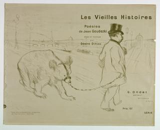 """Print, Title Page, from """"Les Vieilles Histoires, poésies de Jean Goudezki, mises en Musique de Désiré Dihou..., 1893"""